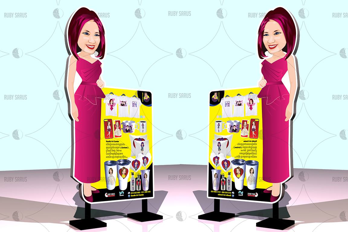 Creative-Doodle-Banner-Stand-Design