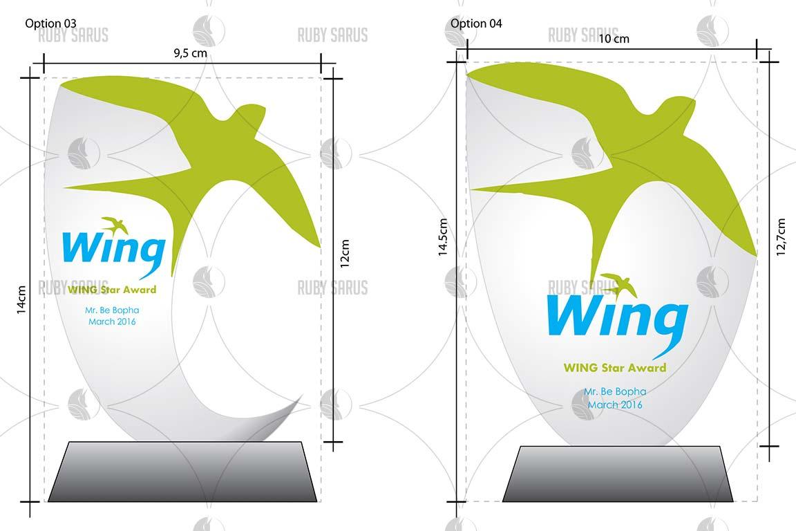 Wing Star Award Design